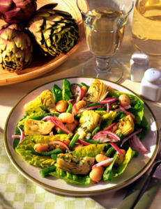Artichoke salad with herb vinaigrette